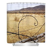 Wired Western Shower Curtain