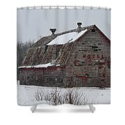 Wisconsin Barn Shower Curtain