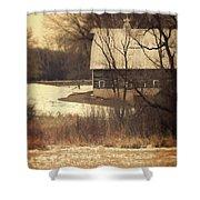 Wisconsin Barn In Winter Shower Curtain