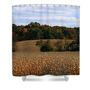 Wisconsin Fields In Late Summer Shower Curtain