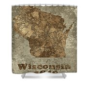 Wisconsin Shower Curtain