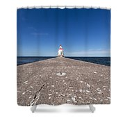 Wisconsin Point Lighthouse 6 B Shower Curtain