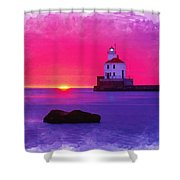 Wisconsin Point Lighthouse Shower Curtain