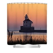 Wisconsin Point Lighthouse - Fs000216 Shower Curtain