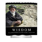 Wisdom Inspirational Quote Shower Curtain by Stocktrek Images