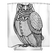 Wisdom Owl Shower Curtain