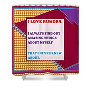 Wisdom Quote Rumors Artistic  Background Designs  And Color Tones N Color Shades Available For Downl Shower Curtain