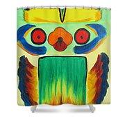 Wise Bird Totem Shower Curtain