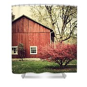 Wise Old Barn Summertime Shower Curtain