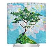 Wish Bone Tree Shower Curtain
