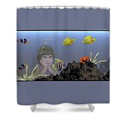 Wish I Could Swim Shower Curtain