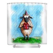 Wishing Ewe  Shower Curtain