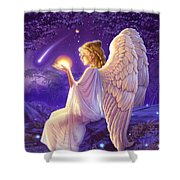 Wishing Star Variant 2 Shower Curtain by Andrew Farley