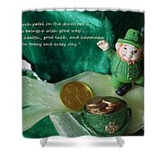 Wishing You A Happy St. Patricks Day Shower Curtain