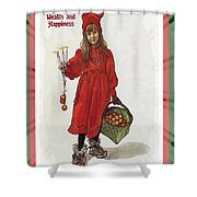 Wishing You Health Wealth And Happiness Greeting Card Shower Curtain