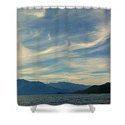 Wispy Clouds Shower Curtain
