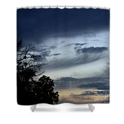 Wispy Clouds One December's Eve Shower Curtain