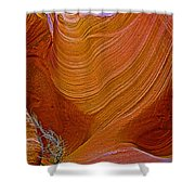 Wispy Relic In Lower Antelope Canyon In Lake Powell Navajo Tribal Park-arizona   Shower Curtain