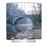 Wissahickon Creek And Valley Green Bridge Shower Curtain