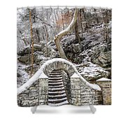 Wissahickon Steps In The Snow Shower Curtain