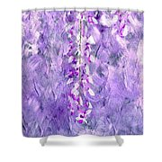 Wisteria Grunge Abstract Shower Curtain