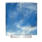 Wistfulness In The Sky  Shower Curtain