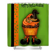 Witch Cupcake 3  Shower Curtain