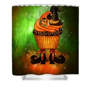 Witch Cupcake 6 Shower Curtain