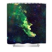 Witch Head Nebula Shower Curtain by Georgia Fowler