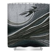 Witches' Branch Grey By Jrr Shower Curtain