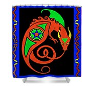 Witches Dragon Shower Curtain