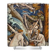 Witches Shower Curtain by Hans Baldung Grien