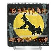Witching Time Shower Curtain by Debbie DeWitt
