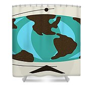 Witco World Map Shower Curtain