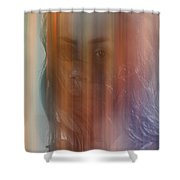 With A Rose Shower Curtain