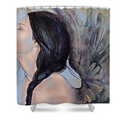 With Ancient Love Shower Curtain by Dorina  Costras