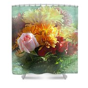 With Love Flower Bouquet Shower Curtain