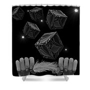 With The Lightest Touch Bw Shower Curtain