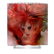 Within A Glass Heart Shower Curtain