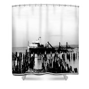 With'in The Harbor Shower Curtain