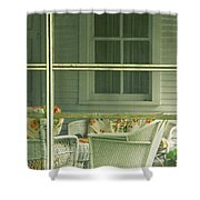 Within The Screened Porch Shower Curtain