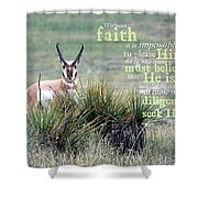 Without Faith Shower Curtain