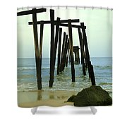 Without Pier Shower Curtain