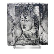 Wizard Of Bogomil's Island - The Fomorii Conjurer Shower Curtain