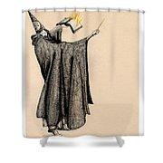 Wizard Of Orange Shower Curtain
