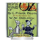 Wizard Of Oz Book Cover  1900 Shower Curtain