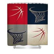 Wizards Ball And Hoop Shower Curtain