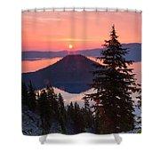 Wizzard Island Sunrise 4 Shower Curtain