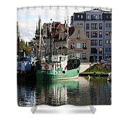 Wladyslawowo And Gdynia In Gdansk Harbor Shower Curtain