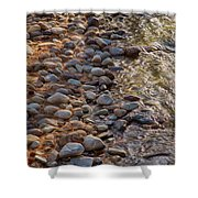 Wolf Creek Upstream Shower Curtain by Omaste Witkowski